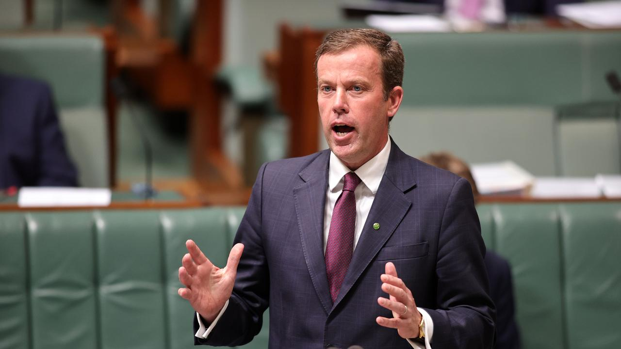 Trade Minister Dan Tehan has been in talks overnight with the Vice President of the European Union commission. Picture: NCA NewsWire / Gary Ramage