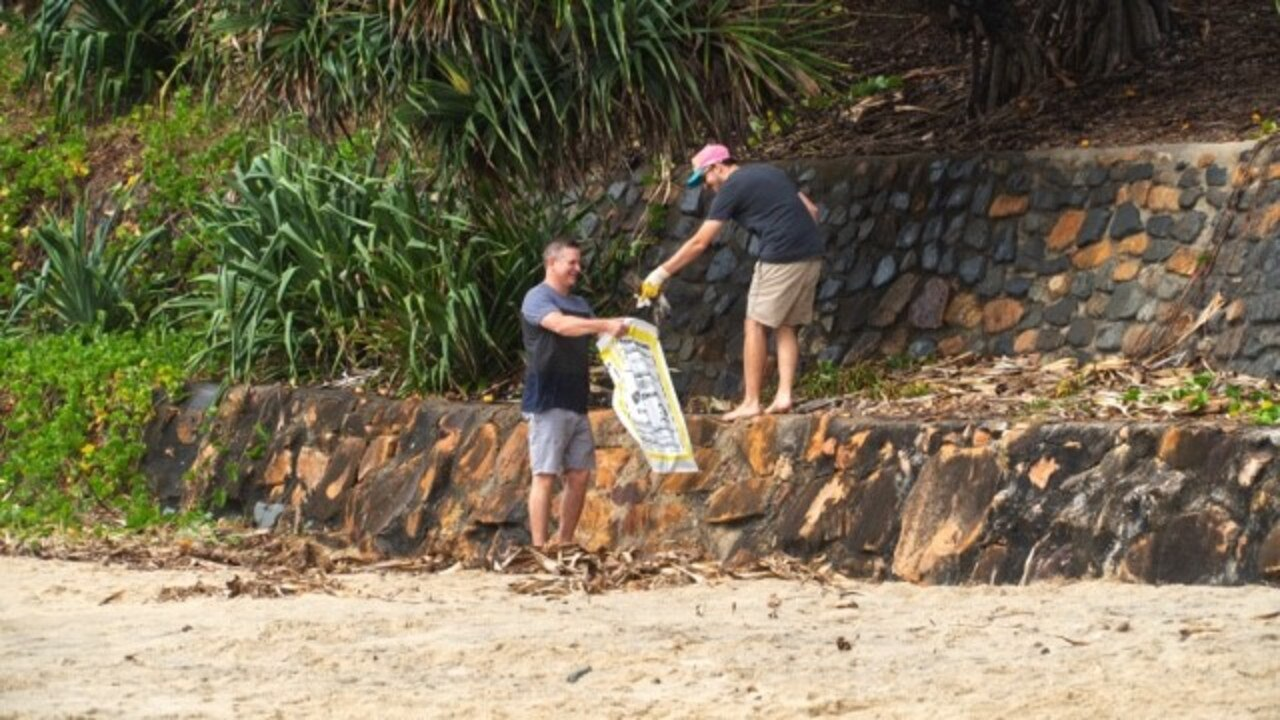 Coolum volunteers get their hands dirty for last year's Clean Up Australia Day. Picture: Supplied