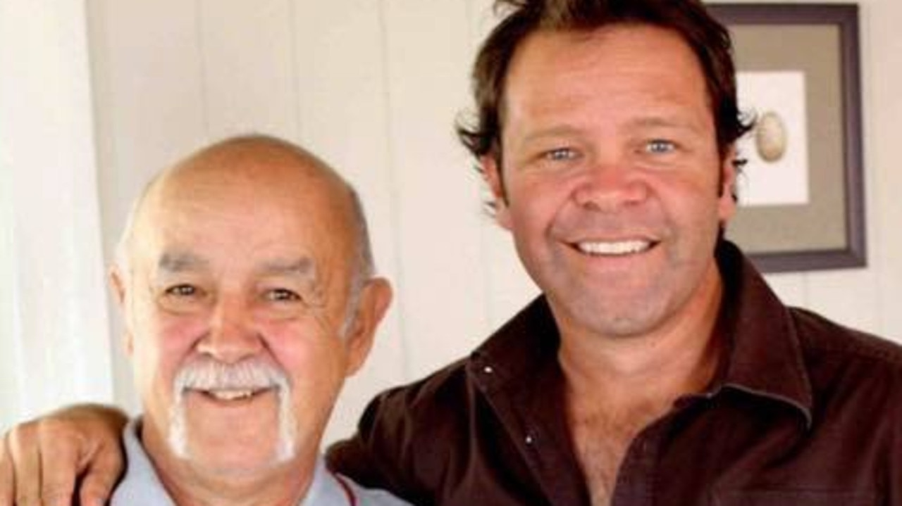 Troy Cassar-Daley with his father Tony Cassar who passed away in 2019. Picture: Supplied.