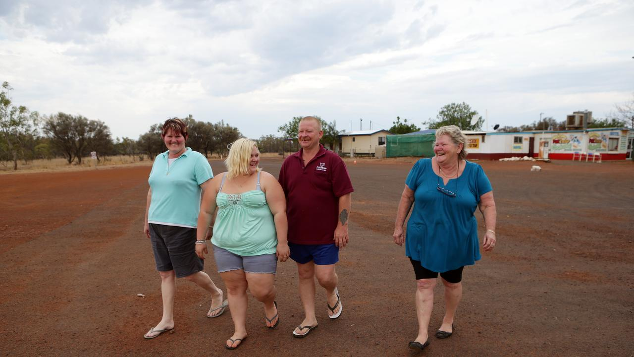 In 2012, when this photo was taken, Cooladdi's population sat at four - all members of the same family who run the Foxtrap Roadhouse. Only Laurel Seymour and her daughter and son-in-law Roxanne and Gavin Muller remain in the town.