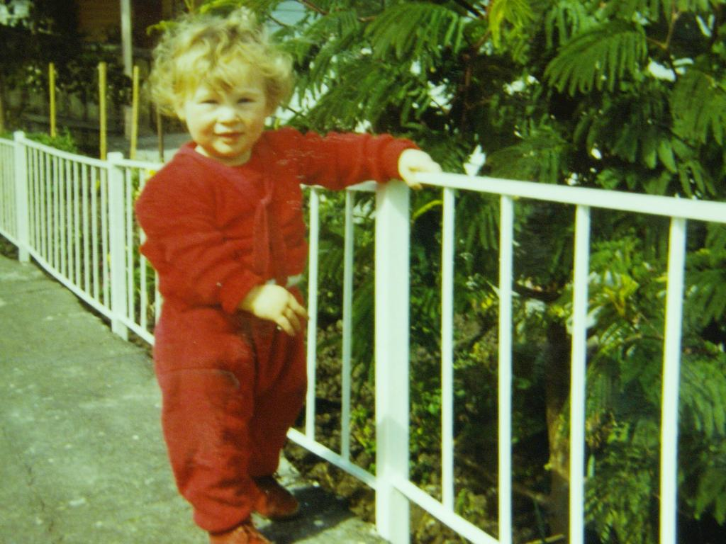 Paul Grundy as a toddler. He's now been shunned by his family.