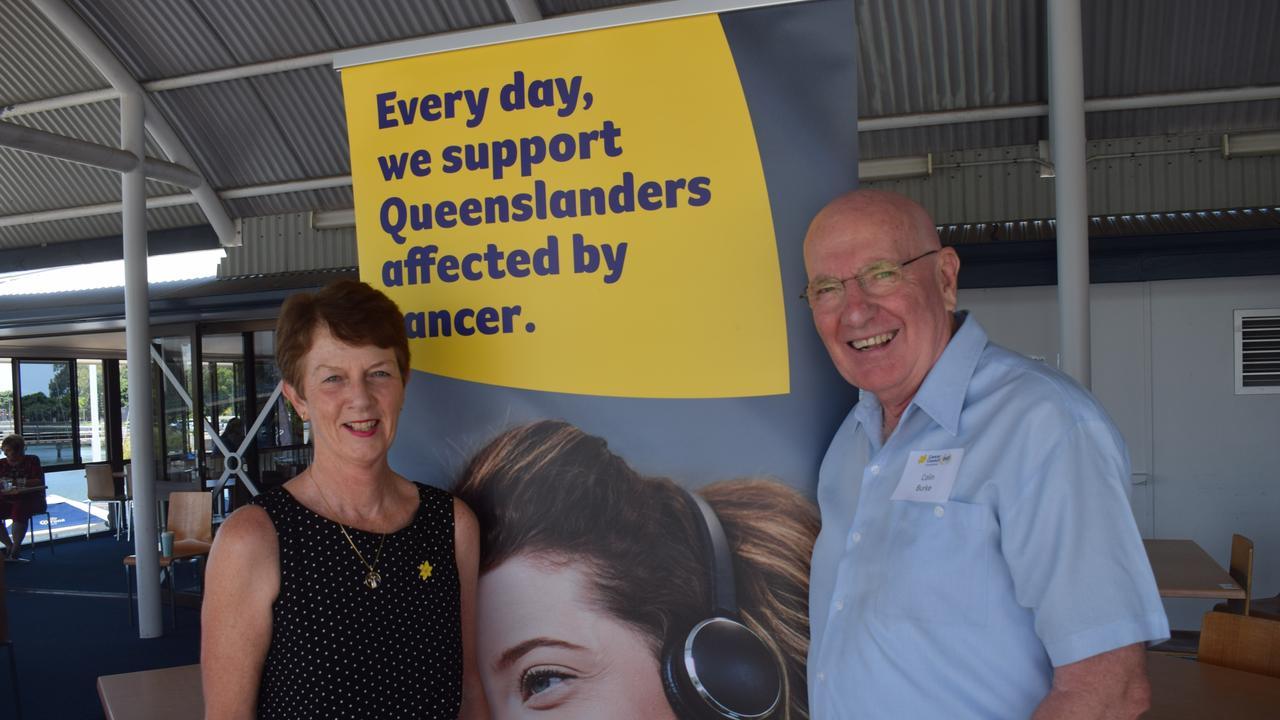 Cancer Council Queensland CEO Chris McMillan and Cancer Council Queensland volunteer Colin Burke.