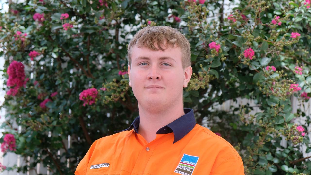 BEGINNING THEIR CAREERS: Western Downs civil construction trainee Justin Townsend. Picture: WDRC