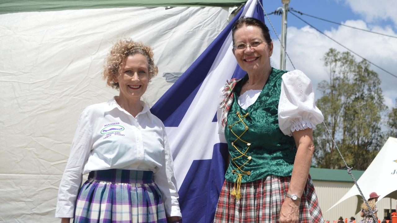 CELEBRATING THE SCOTS: Marlene McBean and Janelle Matthews from the Inverness Highland Dance Studio at the 150th celebrations for the Warwick Caledonian Society.