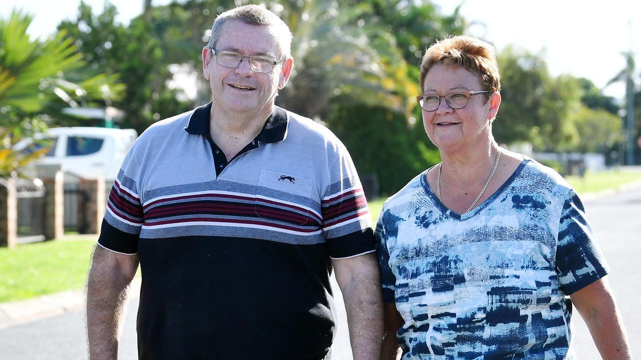 Karen and John May at their home in Sarina. Picture: Tony Martin