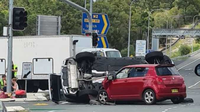 Women, child hurt in Gateway Mwy rollover