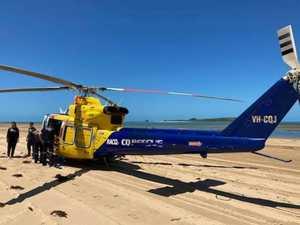 Rider's helmet flew off during beach crash
