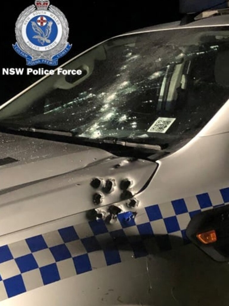 A police car was shot at during an incident at Dunoon.