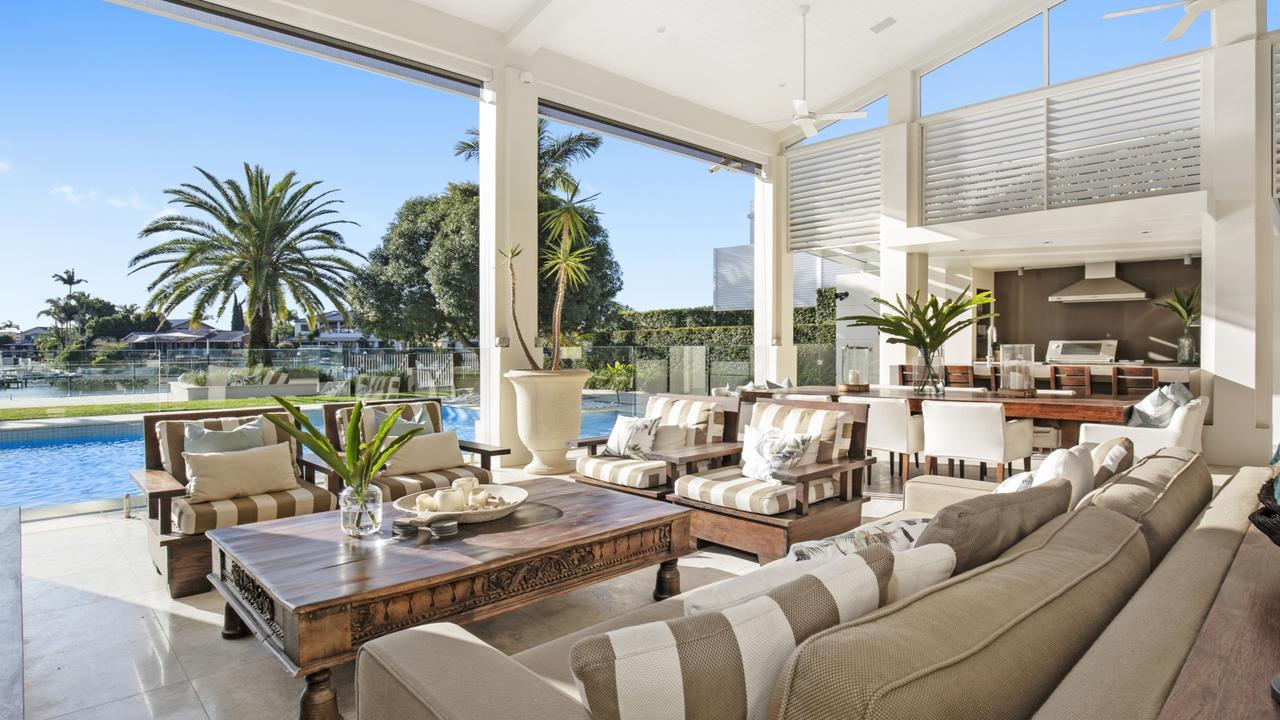 A giant property at Broadbeach Waters has sold for $12.5 million, setting a 2020 record for a house fronting the Nerang River. The 249-255 Monaco St residence is the 1300 sqm Villa Cantarocco, which was regarded as the city's largest house when it was built in the 1970s.