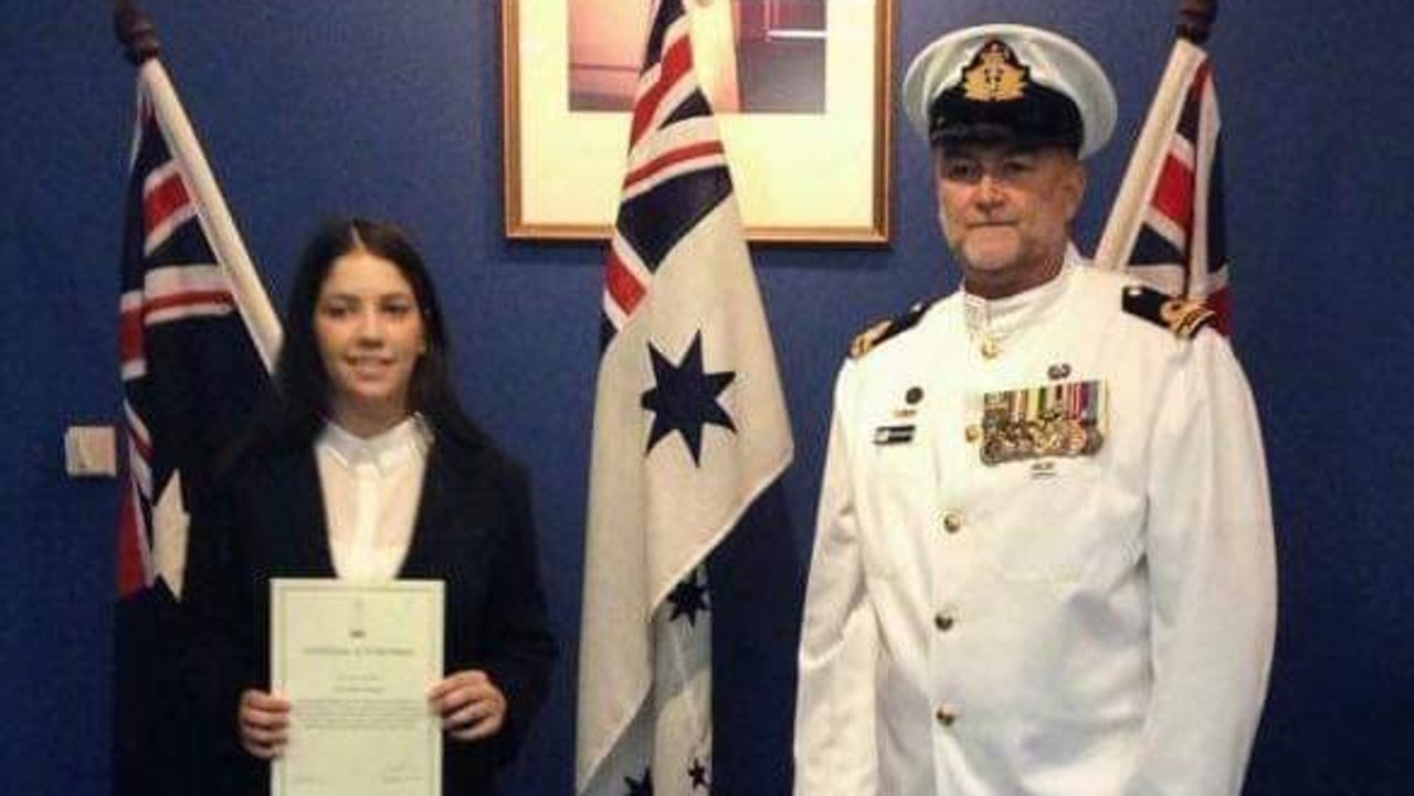 Teri Bailey when she joined the Australian Navy at the age of 18. Source: Supplied