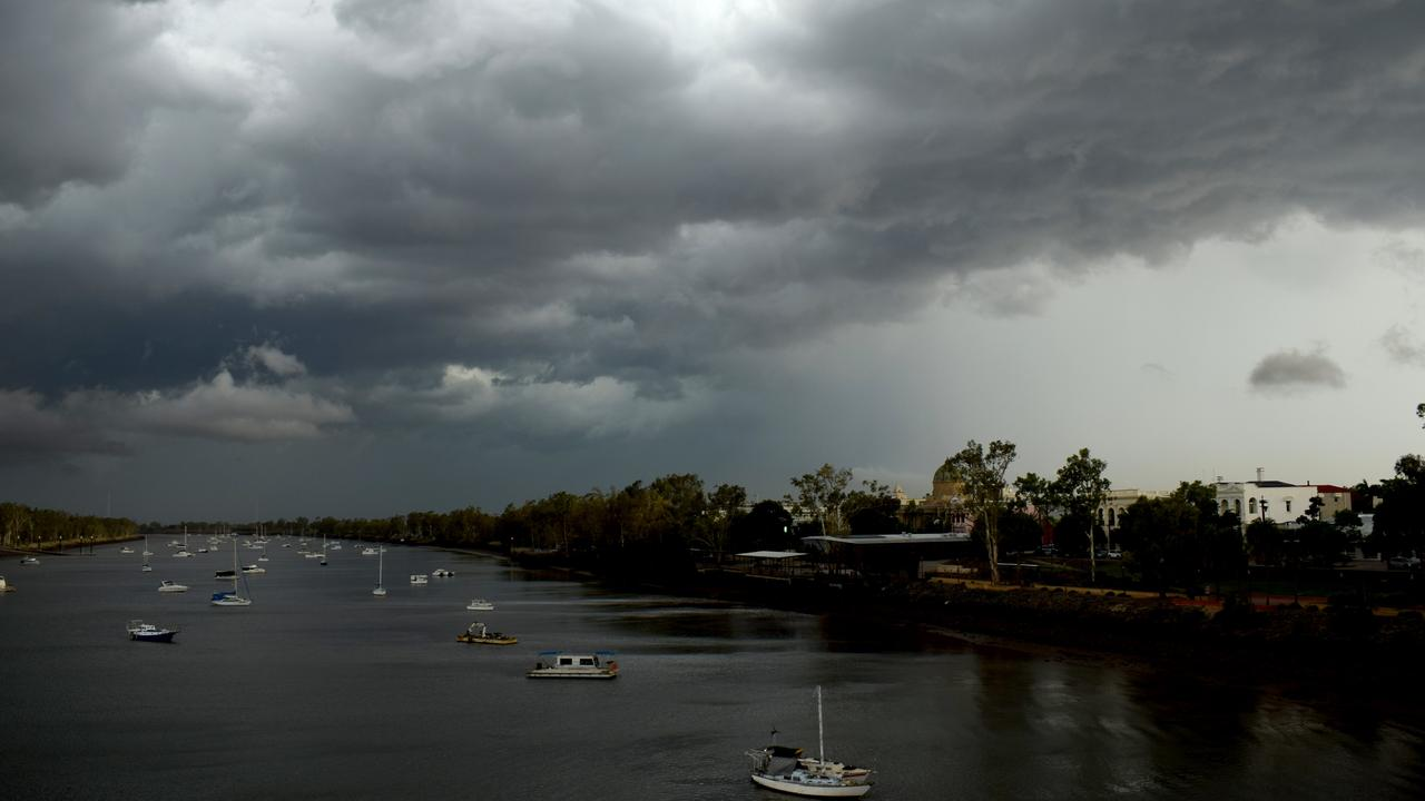 Storm clouds over the Fitroy River. Picture: Jann Houley