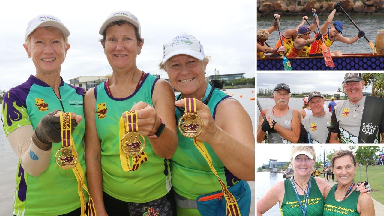 The Dragon Boat Queensland State Titles were held at Lake Kawana on the weekend. Pictures: Tom Threadingham