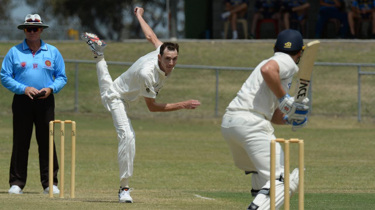 Ipswich Hornets fast bowler Rowan Lutter. Picture: Rob Williams