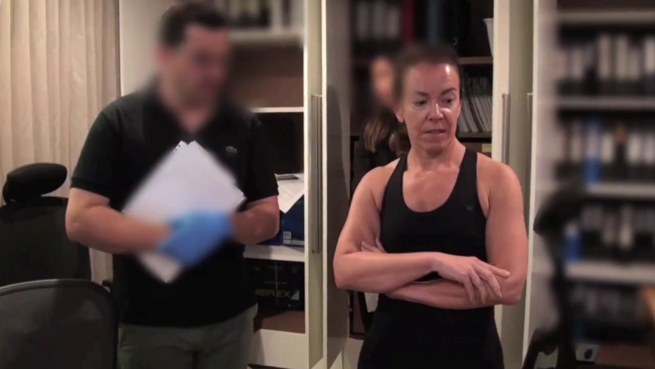 AFP officers raid on the Dover Heights home of Melissa Caddick show the last known footage of her, last November 11. Picture: Picture: NSW Police