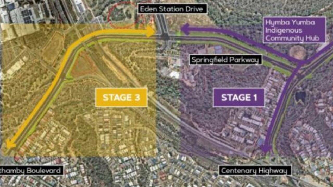 Springfield Parkway and Springfield Greenbank Arterial will undergo multi-million dollar upgrades.