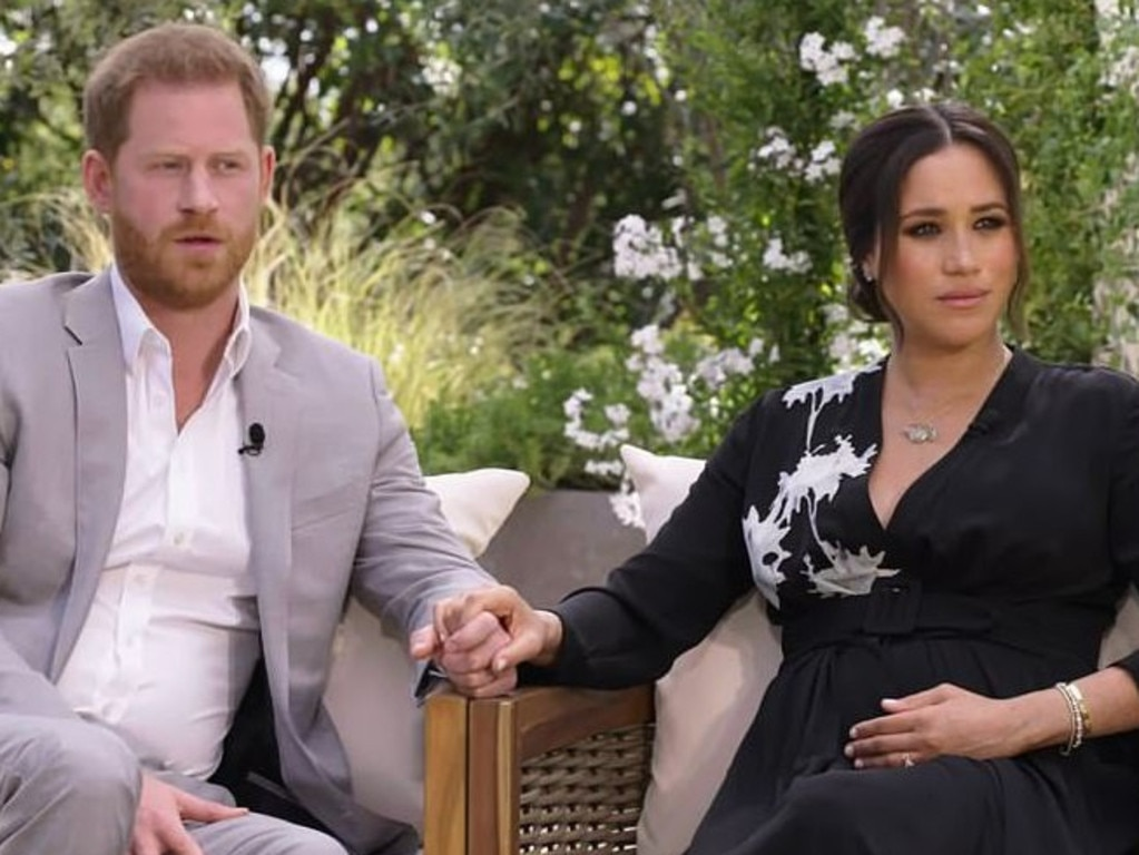 Meghan and Harry interview with Oprah Winfrey. Picture: Harpo Productions