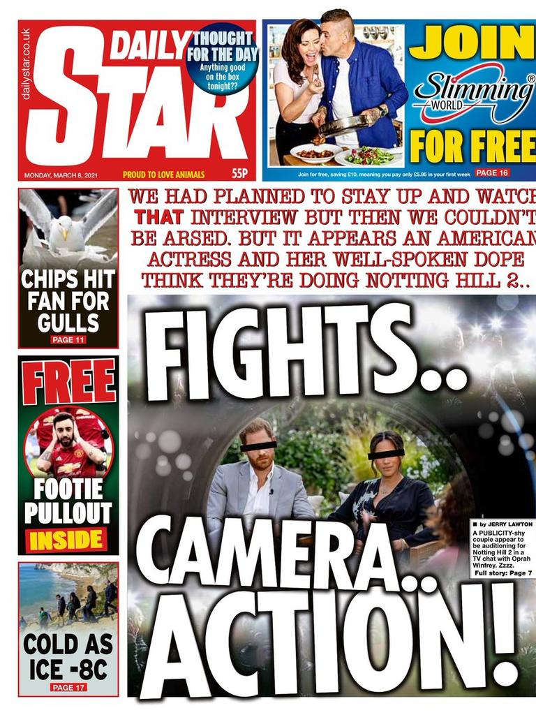 Daily Star front page. Picture: Supplied
