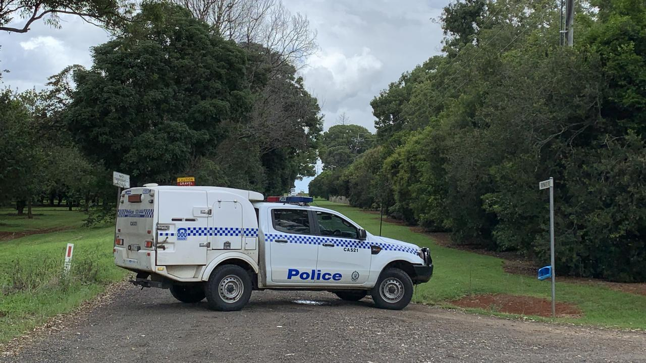 Rayward Road, near Dunoon, remained closed on Sunday, after a man went on a shooting rampage against homes and police cars on Saturday night.