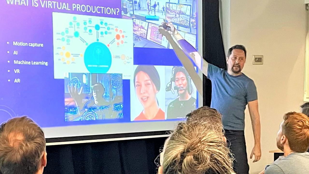 David Zwierzchaczewski highlights the latest film technology special effects during his residency at Peregian Digital Hub.