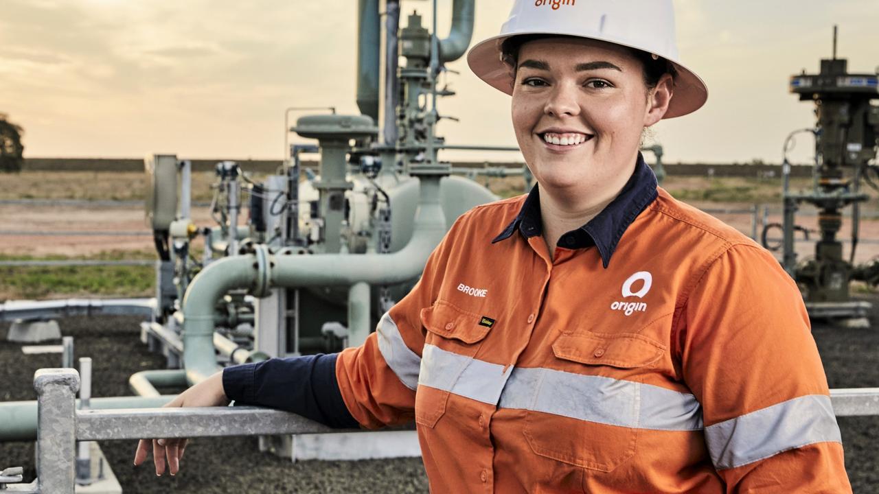 Inspirational women: Origin Energy field project engineer Brooke Geary. Pic: Tim Jones