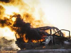 Crews rush to peak-hour car fire on Coast