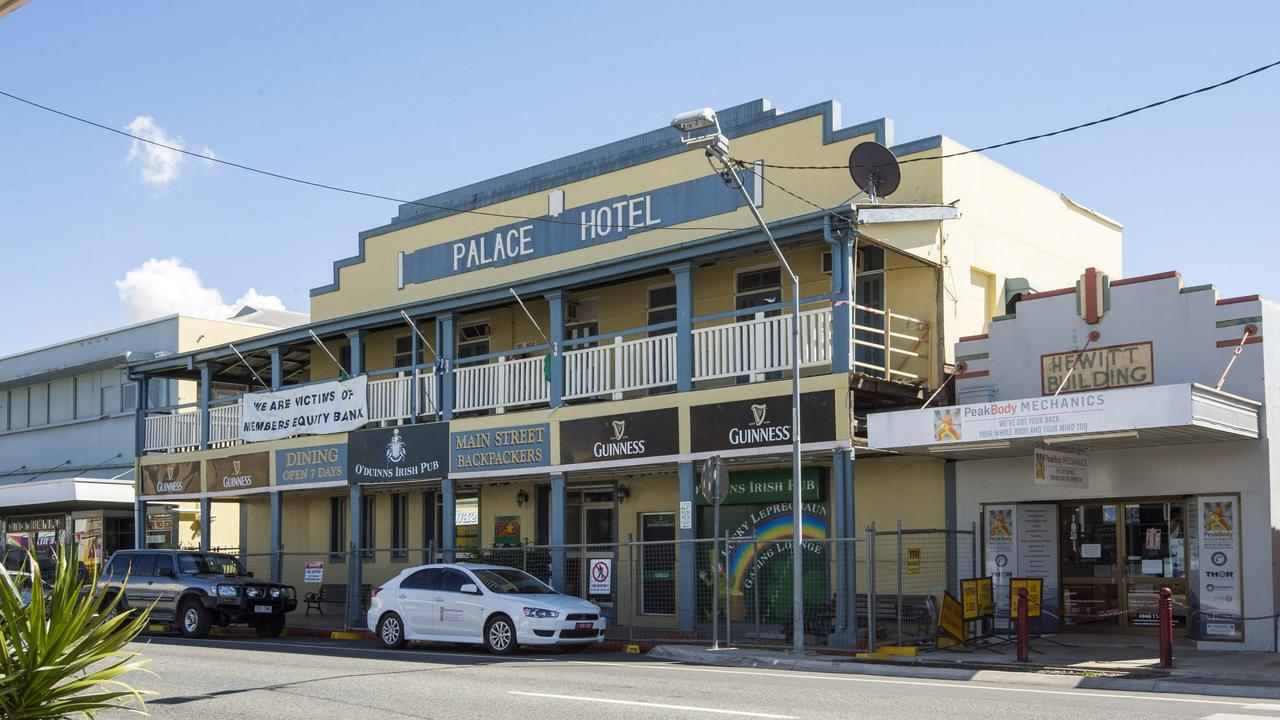 The Palace Hotel, known as O'Duinn's Irish, was extensively damaged during Cyclone Debbie. Photo: Daryl Wright