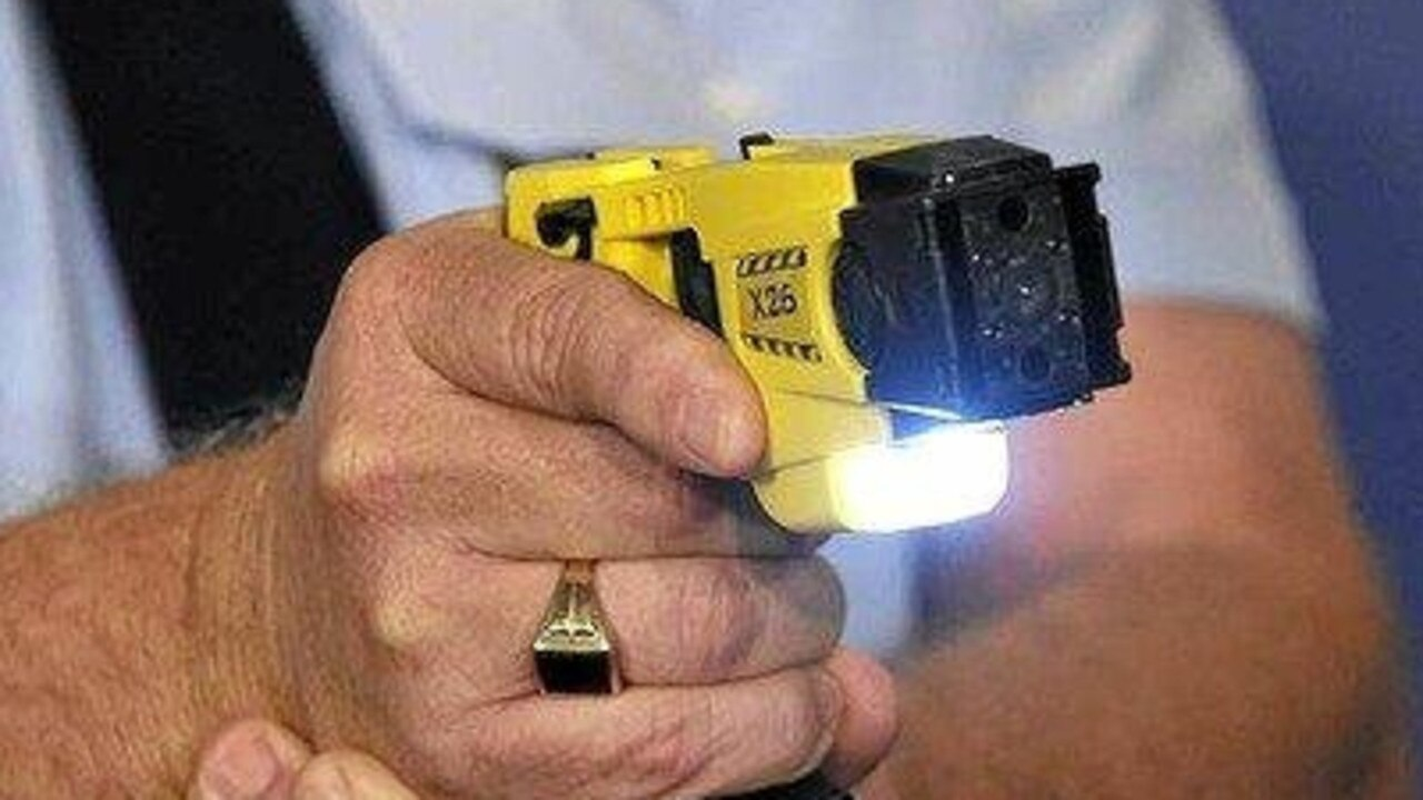 Police deployed a taser after being called to a residence in the Tweed on Friday morning.
