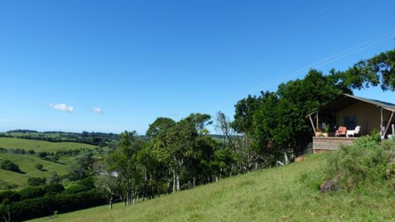 The view towards the proposed camping sites on the northeastern slope of the property.