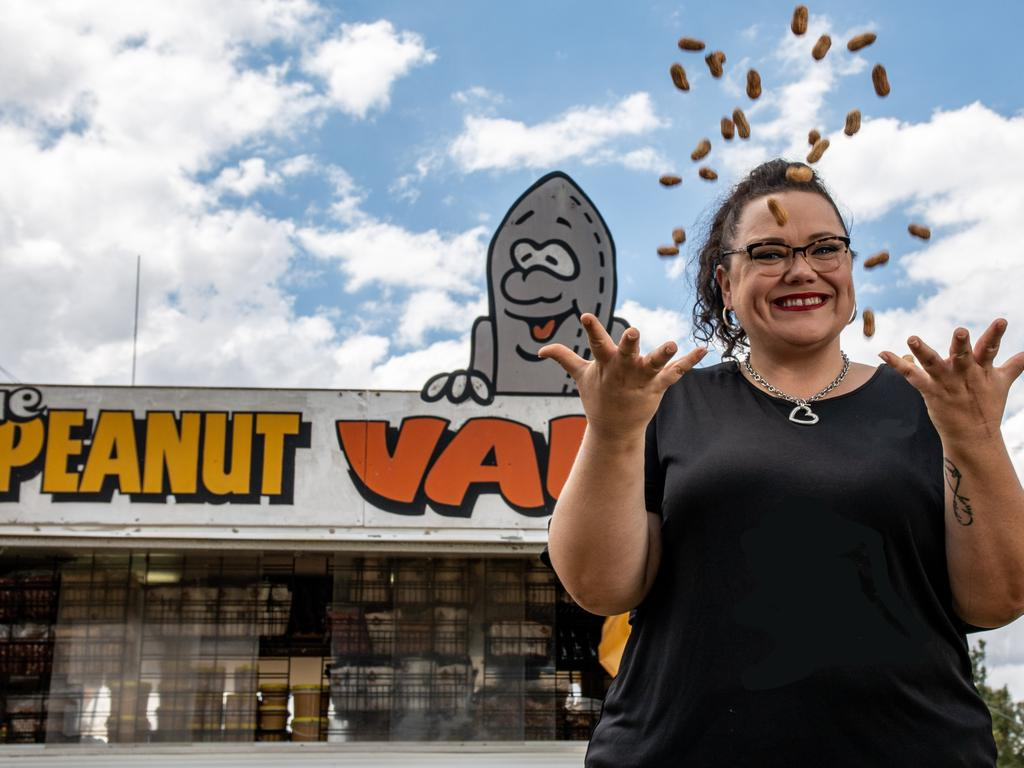 In a matter of months, Kingaroy will have its very own 'big peanut', largely thanks to event management powerhouse Kristy Board. Picture: Dominic Elsome