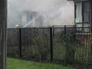 Crews battle house fire, paramedics assess 31-year-old man