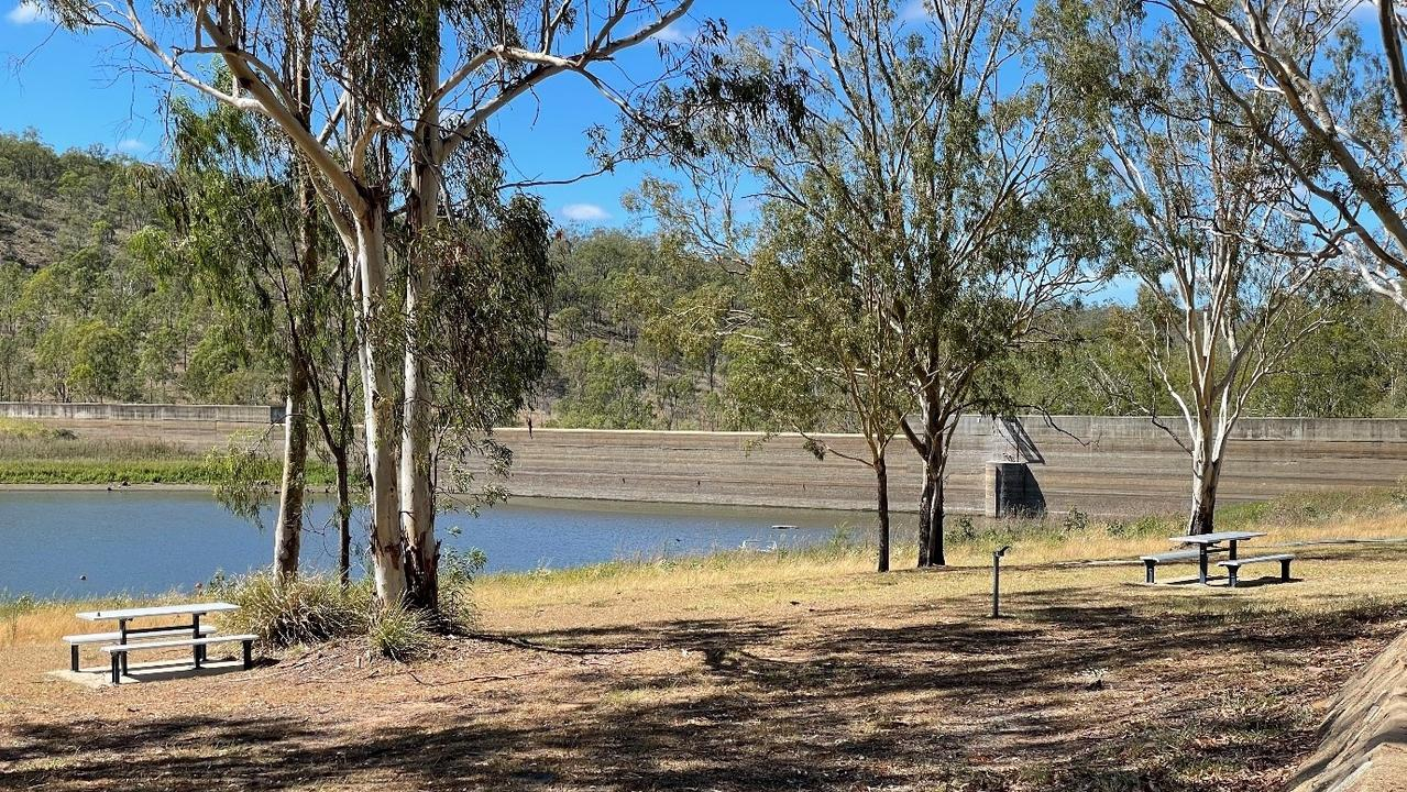 Mount Morgan No.7 Dam has dropped to 9.9 per cent. Picture: Stephen Andrew