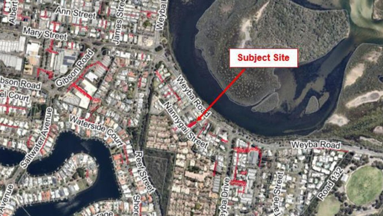 The site of the proposed Noosaville short term stay.