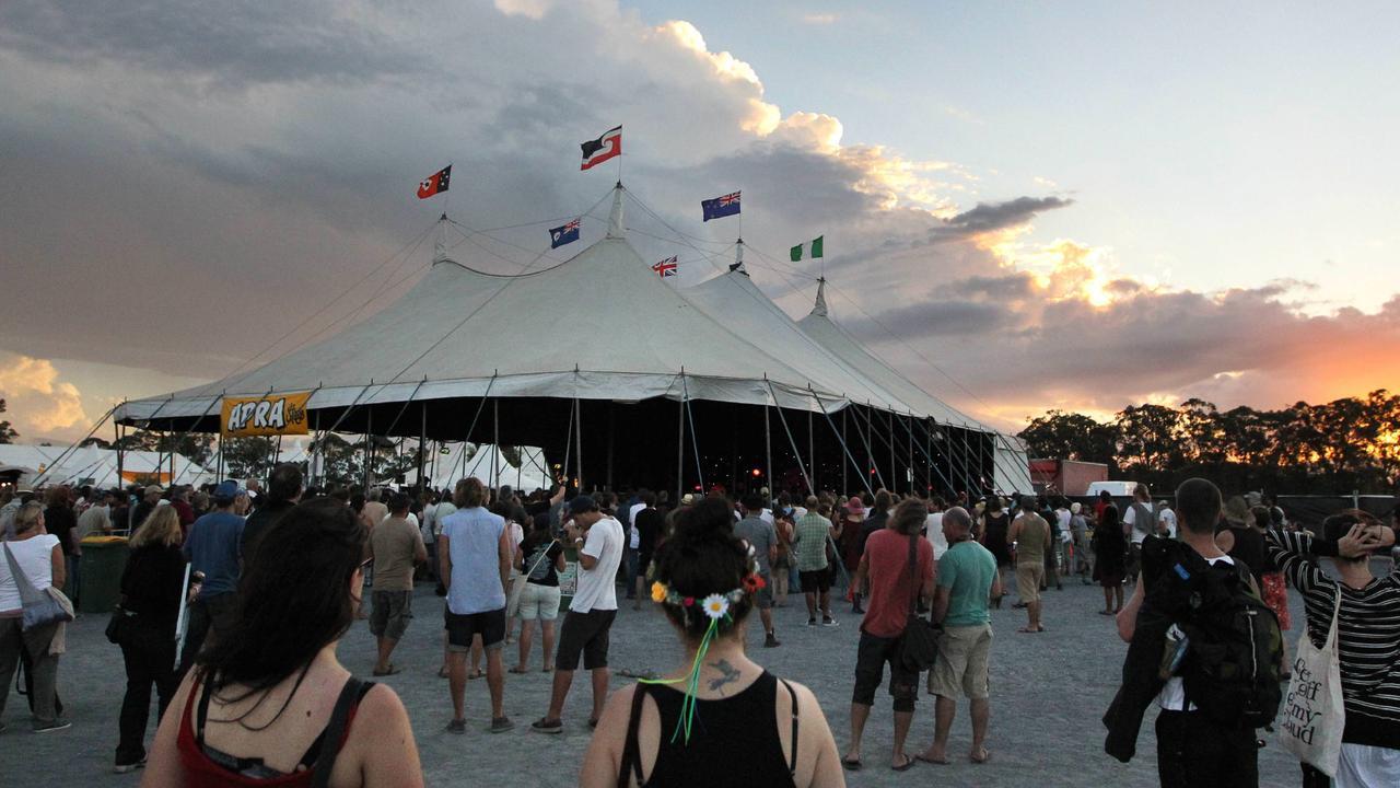 Bluesfest music festival held in Byron Bay.