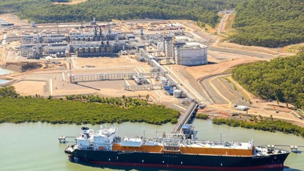 QGC LNG Plant on Curtis Island, Gladstone.