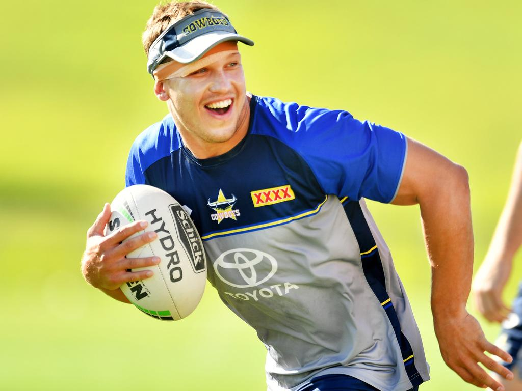 NRL; North Queensland Cowboys pre-season training at Willows Sports Complex. Reuben Cotter. Picture: Alix Sweeney