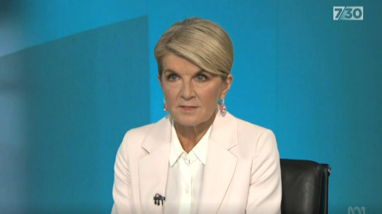 Former foreign affairs minister Julie Bishop addresses the alleged toxic culture in parliament. Picture: ABC