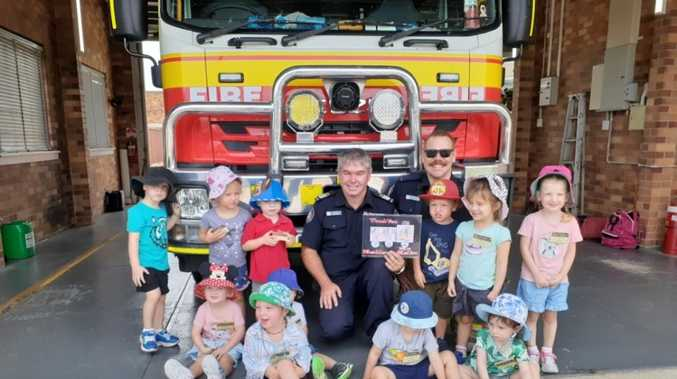 Kindy kids soak up lifesaving advice from Stanthorpe fireys