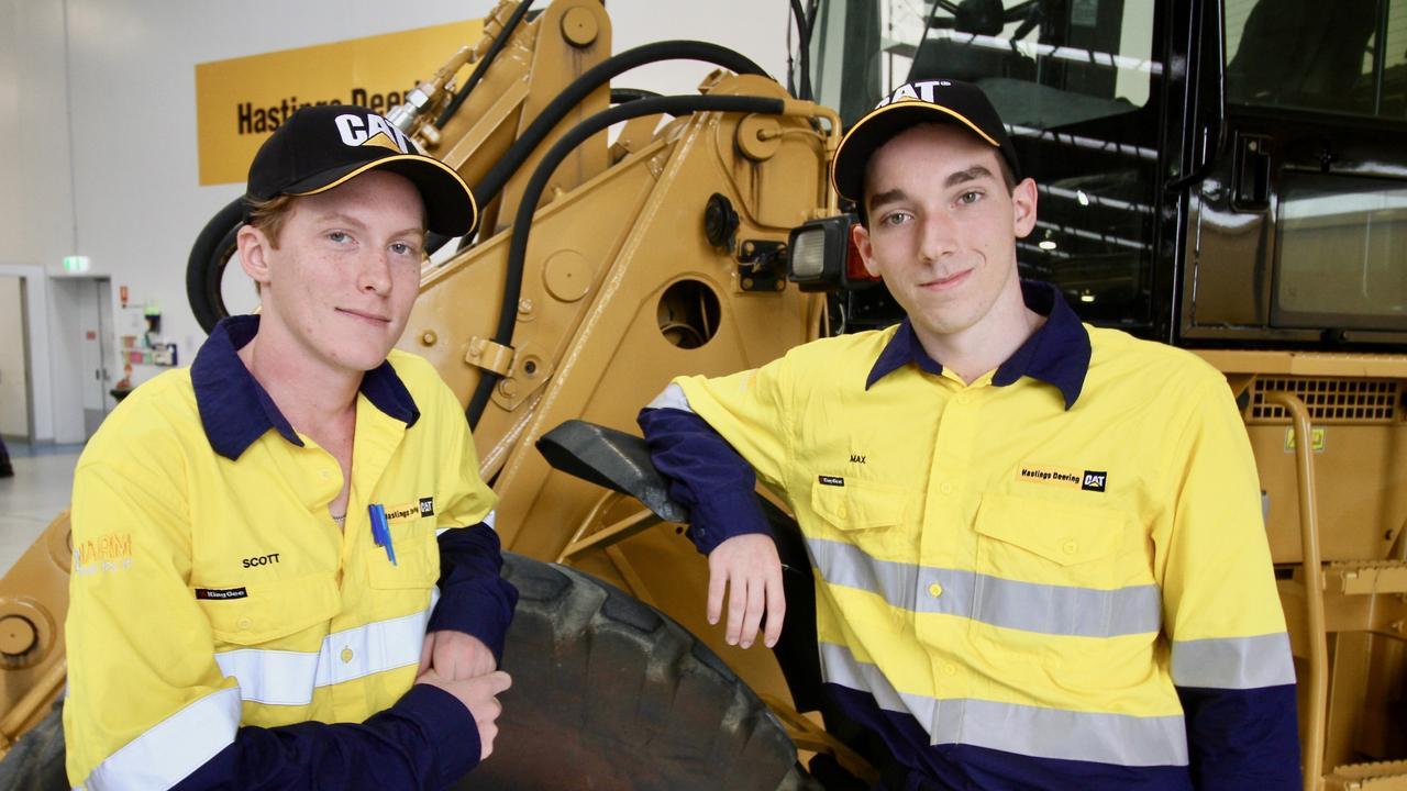 Scott Mathison, 18, and Max Telford, 17, have begun apprenticeships.