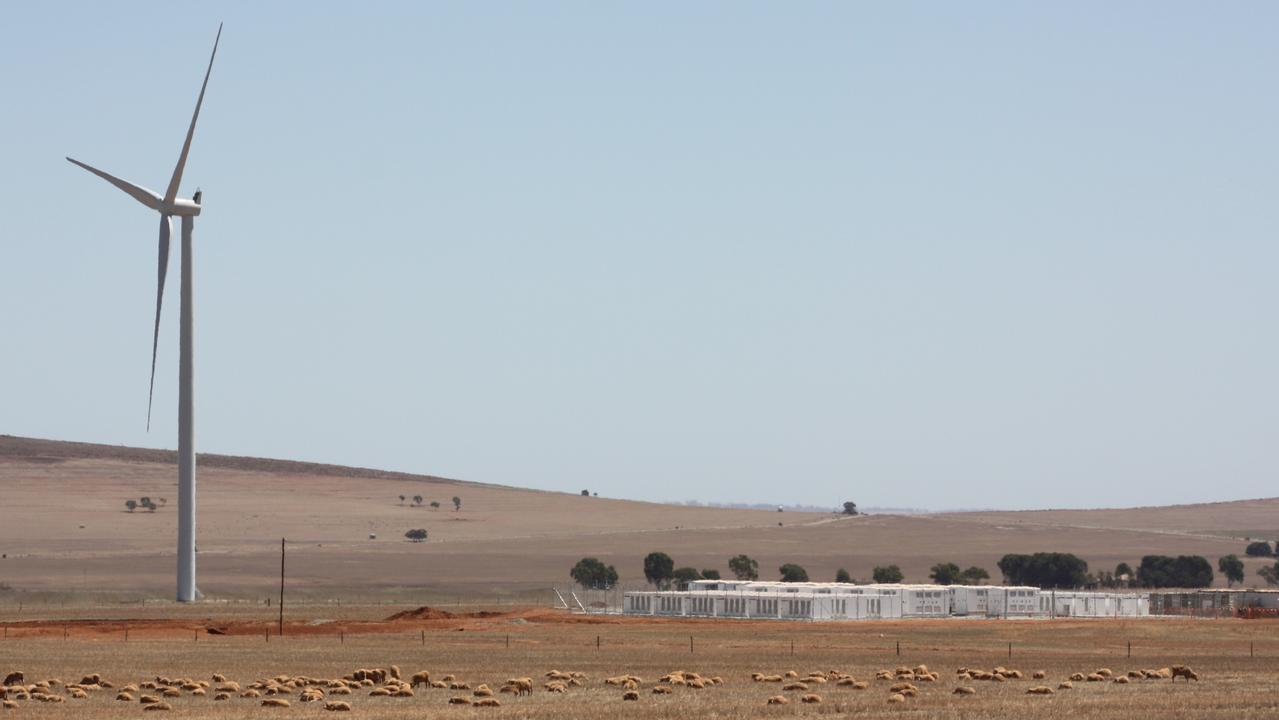 The Hornsdale Power Reserve is around the same size as the battery Gambit is building in Texas. Picture: Chris Russell