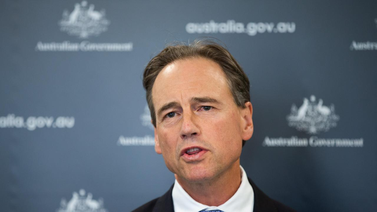 Greg Hunt has been admitted to hospital.