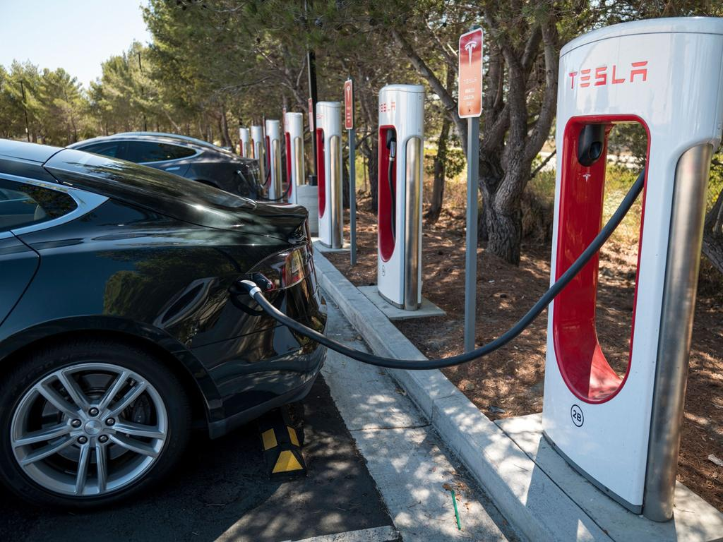 Elon Musk has previously told shareholders Tesla's energy business will be as big as its car business in the future. Picture: David Paul Morris/Bloomberg