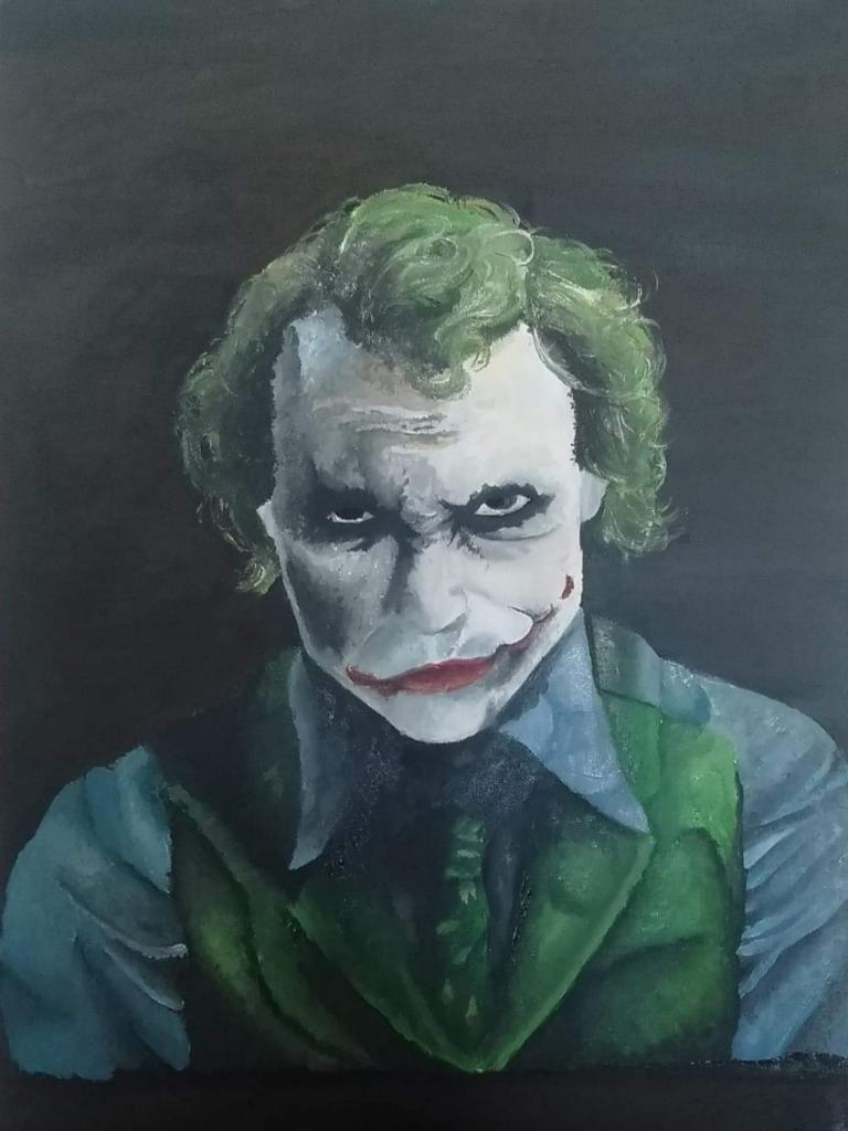 Abby's painting of the Joker.