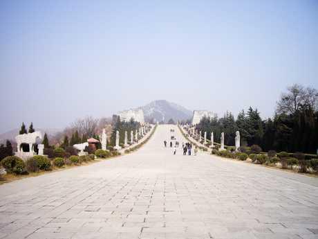 Spirit Way of Qianling Mausoleum - Mausoleum of Emperor Gaozong and Wu Zetian in Tang dynasty, Xian, China.