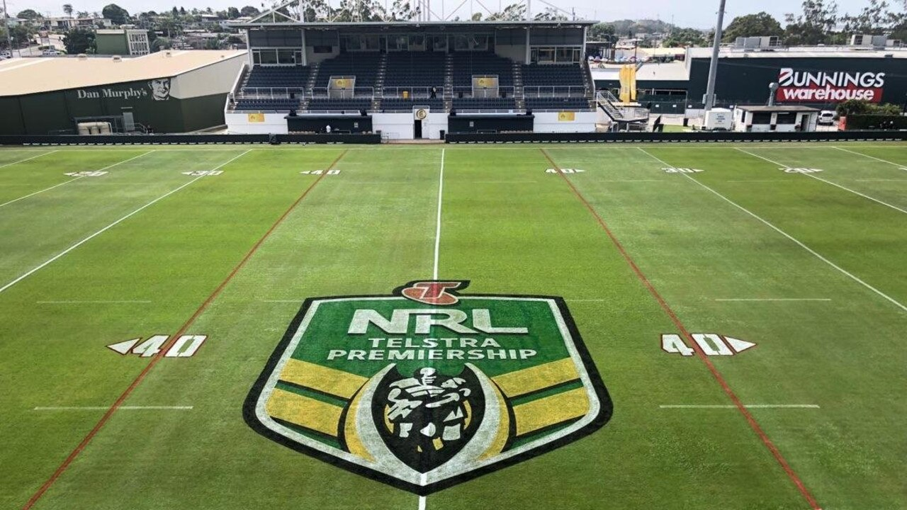 Marley Brown Oval in prime condition prior to the NRL match between Gold Coast Titans and Manly Sea Eagles.