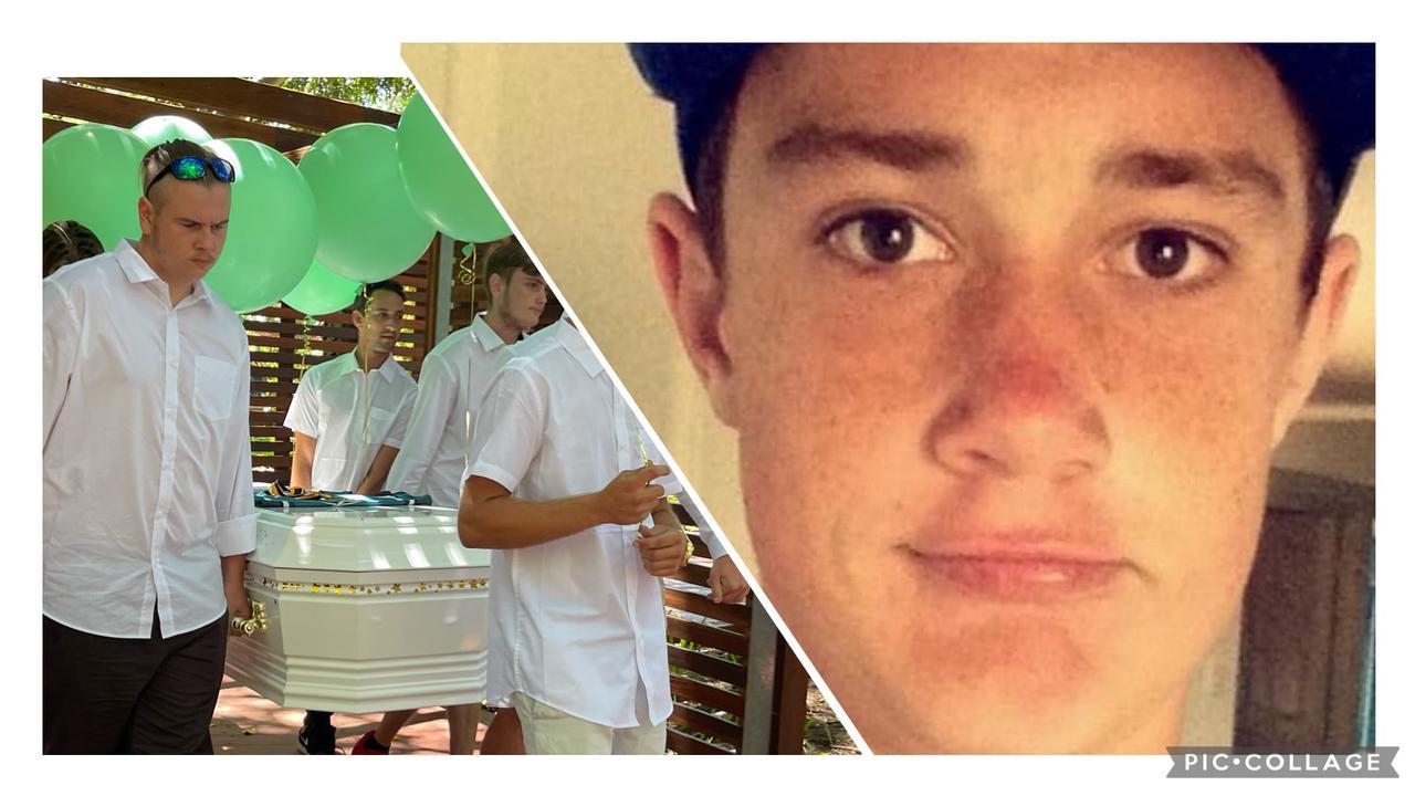 Daniel Mcdowall's funeral service in Urangan.