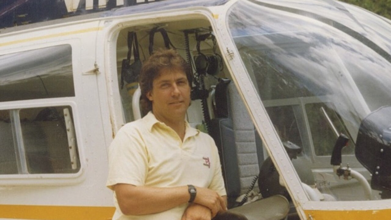 John McDermott in his earlier chopper flying days.
