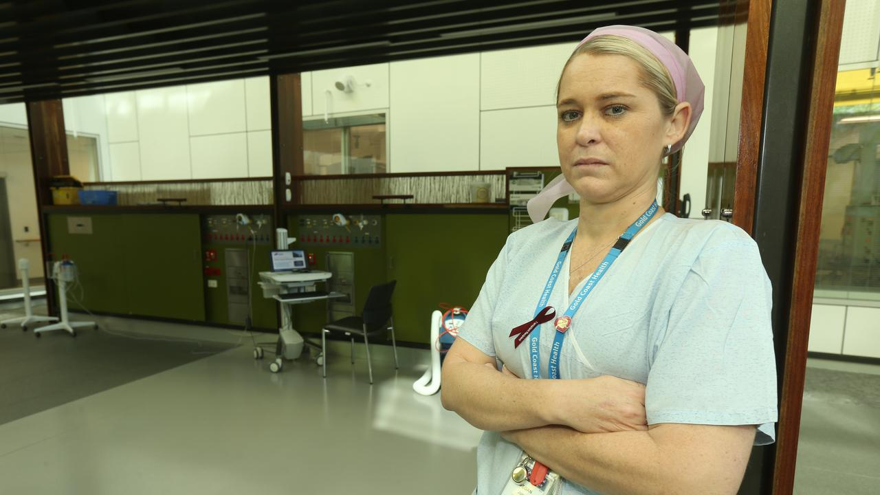 Megan Jonas pictured at the Gold Coast University Hospital in 2018. Picture Mike Batterham
