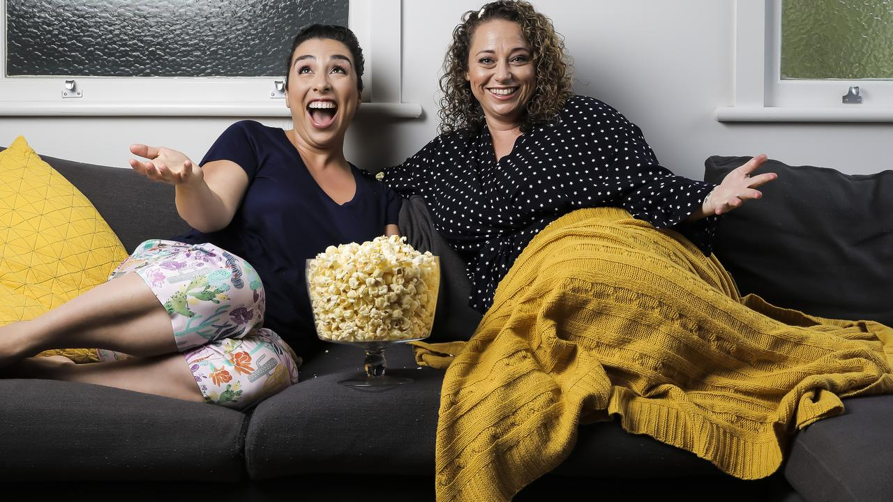 Kristen Souvlis and Nadine Bates are the owners of Like a Photon Creative which has recently won a mega-animated movie deal with international rights. Picture: Mark Cranitch.