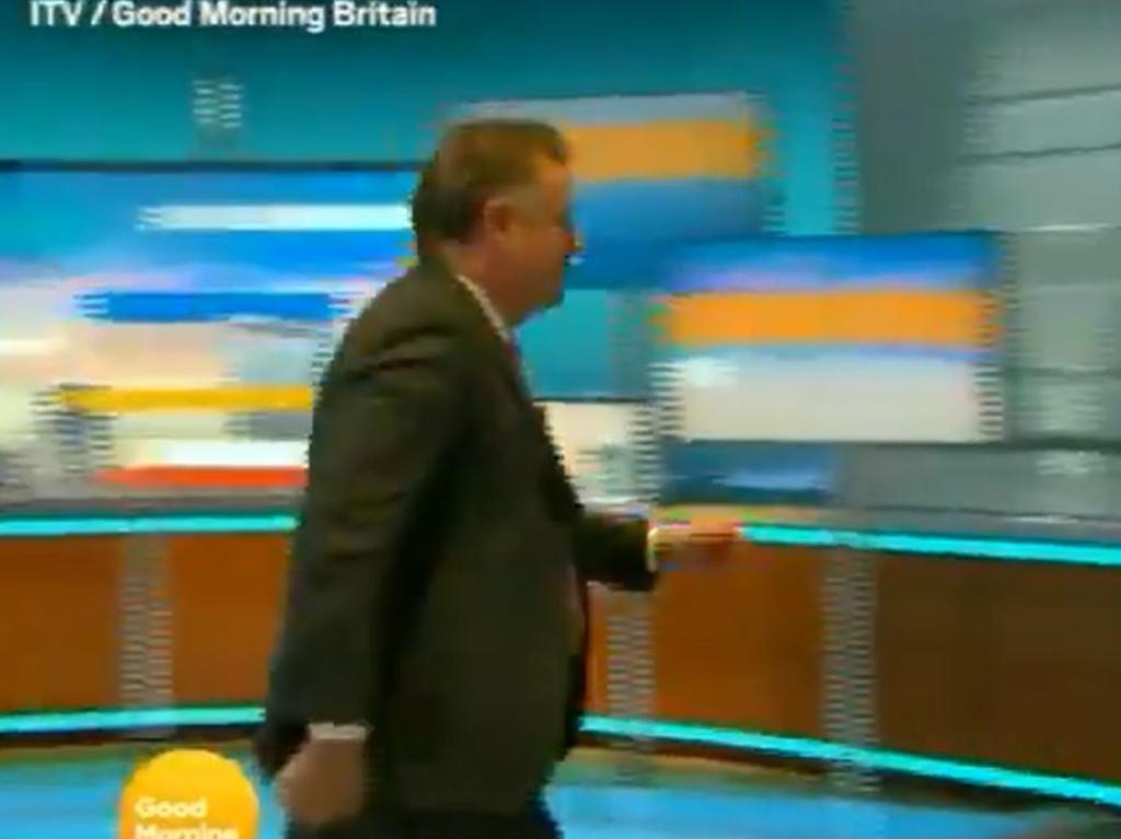 Piers Morgan walks off set as a co-star attacks his 'diabolical behaviour' on Good Morning Britain.