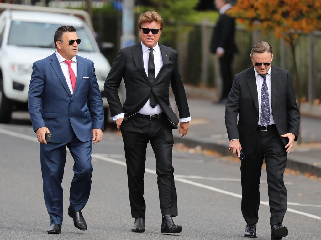Richard Wilkins arrive with other guests. Picture: Alex Coppel